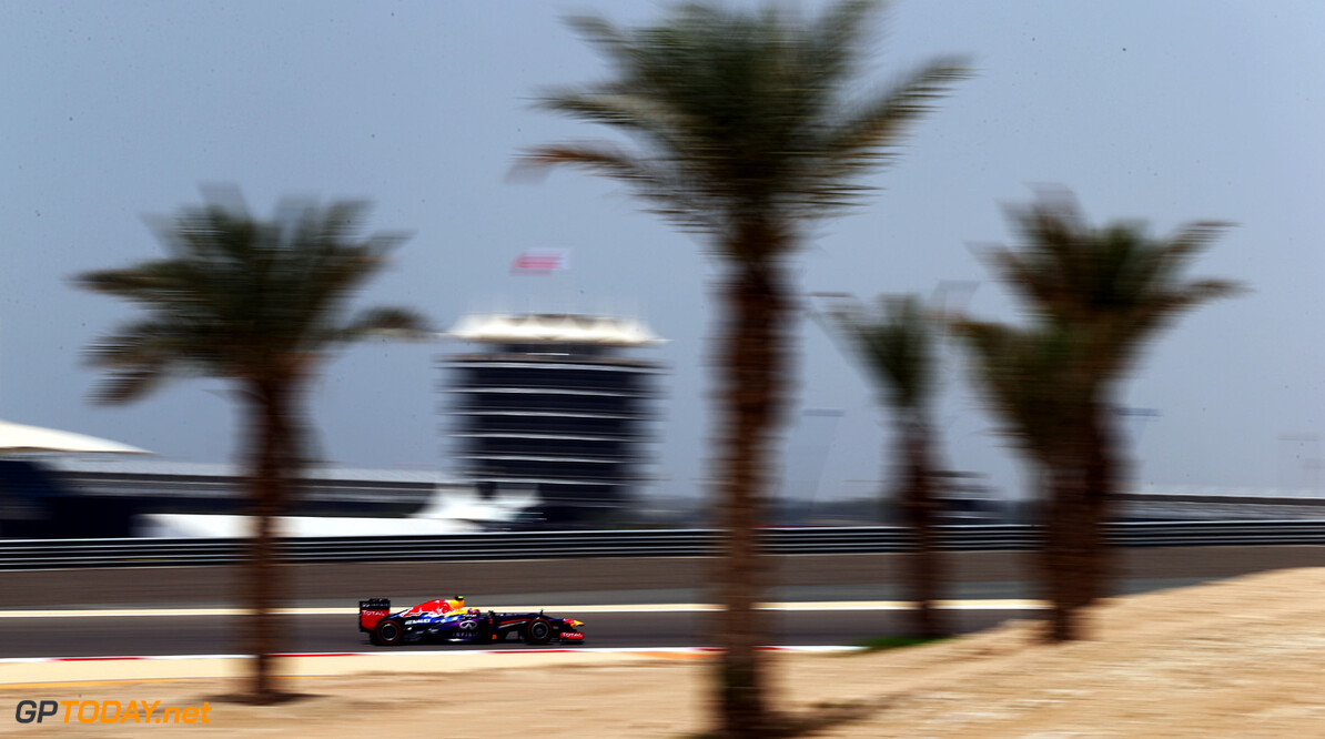 163377116KR00097_F1_Grand_P SAKHIR, BAHRAIN - APRIL 19:  Mark Webber of Australia and Infiniti Red Bull Racing drives during practice for the Bahrain Formula One Grand Prix at the Bahrain International Circuit on April 19, 2013 in Sakhir, Bahrain.  (Photo by Clive Mason/Getty Images) *** Local Caption *** Mark Webber F1 Grand Prix of Bahrain - Practice Clive Mason Sakhir Bahrain  formula 1 Formula One Racing Auto Racing Formula 1 Grand Prix of Bahrain Bahrain Formula One Grand Prix Formula One Grand Prix