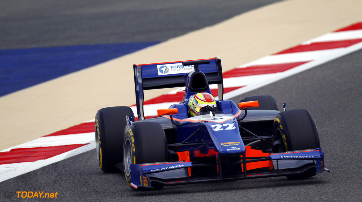 2013 GP2 Series. Round 2.  Bahrain International Circuit, Sakhir, Bahrain. 19th April.  Friday Qualifying.  Robin Frijns (NED, Hilmer Motorsport). Action.  World Copyright: Alastair Staley/GP2 Series Media Service. Ref: _A8C0325