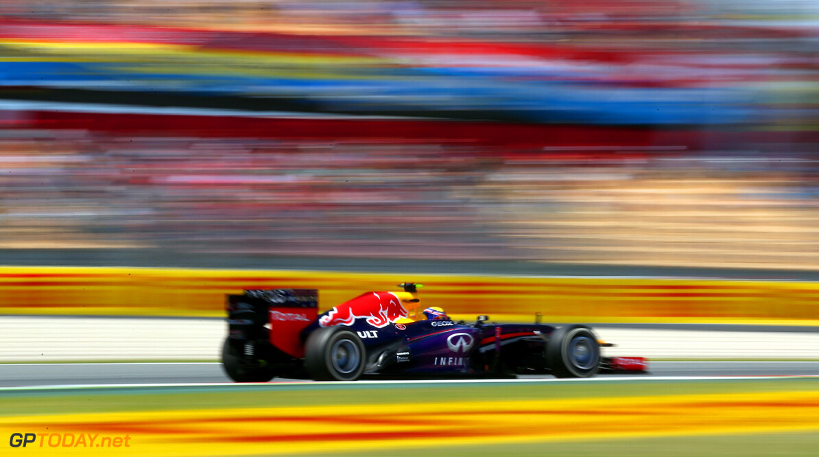 163377260KR00115_Spanish_F1 MONTMELO, SPAIN - MAY 12:  Mark Webber of Australia and Infiniti Red Bull Racing drives during the Spanish Formula One Grand Prix at the Circuit de Catalunya on May 12, 2013 in Montmelo, Spain.  (Photo by Clive Rose/Getty Images) *** Local Caption *** Mark Webber Spanish F1 Grand Prix - Race Clive Rose Montmelo Spain  Formula One Racing formula 1 Auto Racing Spain F1 Grand Prix Spanish Formula One Grand Prix Formula One Grand Prix Barcelona
