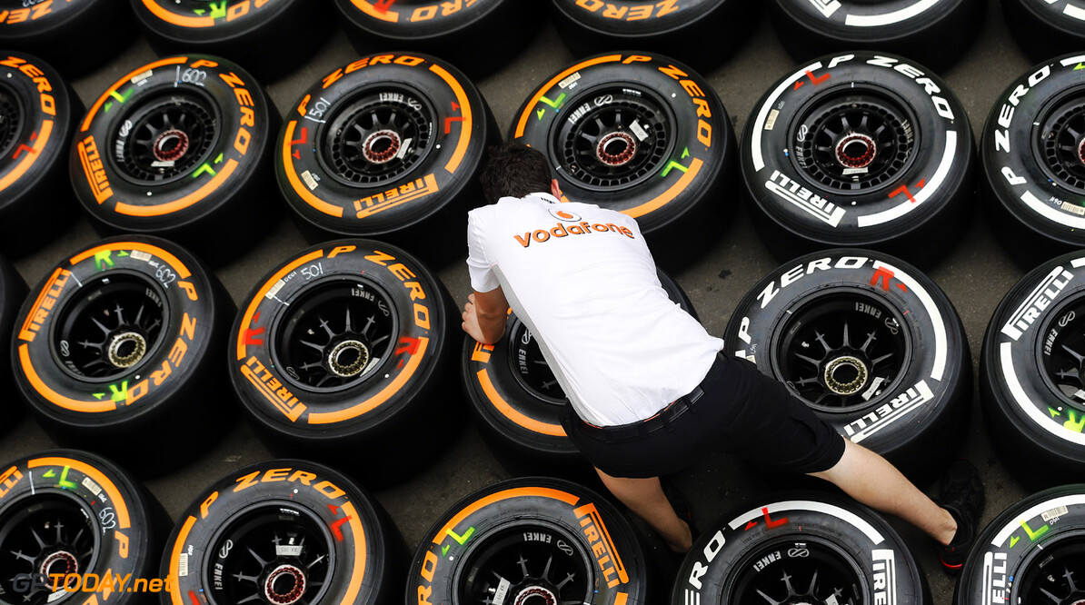2013 Spanish Grand Prix - Friday Circuit de Catalunya, Barcelona, Spain 10th May 2013 A Vodafone McLaren mercedes mechanic.  Photo: Steven Tee/McLaren ref: Digital Image _L0U0062 Spanish Grand Prix - Friday     formula 1 formula one f1 gp montmelo esp spn catalan