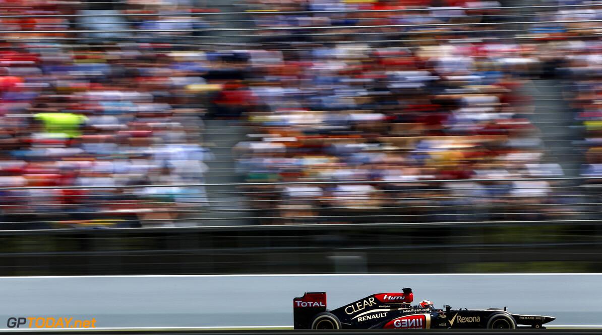 2012 Spanish Grand Prix - Sunday Circuit de Catalunya, Barcelona, Spain 12th May 2013 Kimi Raikkonen, Lotus E21 Renault.  Photo: Andrew Ferraro/Lotus F1 Team ref: Digital Image _79P5789      formula 1 formula one f1 gp montmelo esp spn catalan