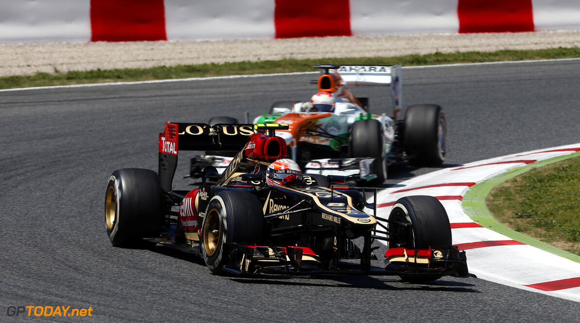 2012 Spanish Grand Prix - Sunday Circuit de Catalunya, Barcelona, Spain 12th May 2013 Romain Grosjean, Lotus E21 Renault.  Photo: Andrew Ferraro/Lotus F1 Team ref: Digital Image _79P4897      formula 1 formula one f1 gp montmelo esp spn catalan