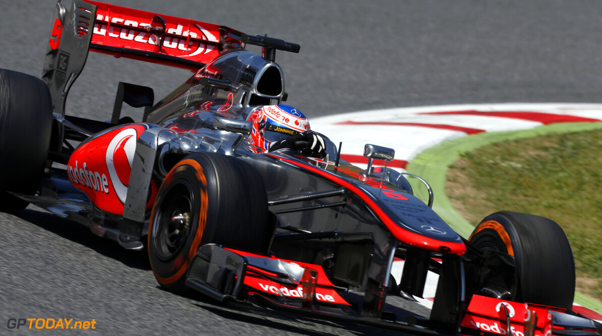 2013 Spanish Grand Prix - Sunday Circuit de Catalunya, Barcelona, Spain 12th May 2013 Jenson Button, McLaren MP4-28 Mercedes.  Photo: Andrew Ferraro/McLaren ref: Digital Image _79P5411 Spanish Grand Prix - Sunday     formula 1 formula one f1 gp montmelo esp spn catalan