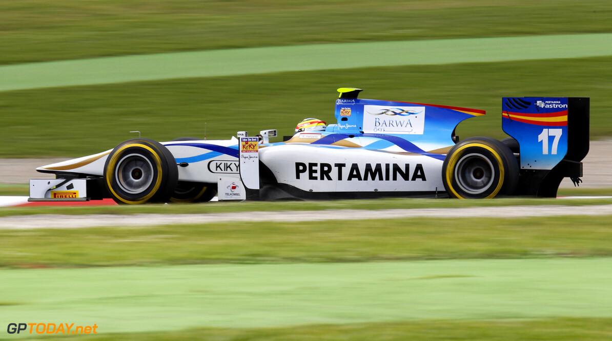 2013 GP2 Series. Round 3.  Circuit de Catalunya, Barcelona Spain. 10th May 2013. Saturday Qualifying. Rio Haryanto (INA, Barwa Addax Team). Action.  World Copyright: Alastair Staley/GP2 Series Media Service. Ref: _A8C1589