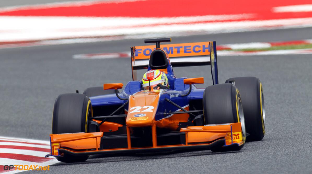 2013 GP2 Series. Round 3.  Circuit de Catalunya, Barcelona Spain. 10th May 2013. Saturday Qualifying. Robin Frijns (NED, Hilmer Motorsport). Action.  World Copyright: Alastair Staley/GP2 Series Media Service. Ref: _A8C1695