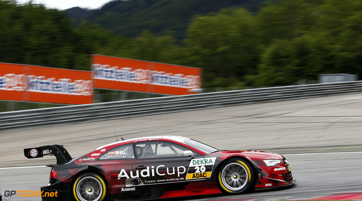 Audi Communications Motorsport Motorsports / DTM 2013, 3. Rennen Red Bull Ring Spielberg (AUT),  Audi RS 5 DTM #20 (Audi Sport Team Phoenix), Miguel Molina,  *** Local Caption *** Audi Communications Motorsport ### free of charge for press purpose only. If you need pictures for other purposes please contact Audi Communications Motorsport motorsport-media@audi.de Motorsports / DTM 2013, 3. Rennen Red Bull Ring Spielberg (AUT) Audi Communications Motorsport Spielberg Austria  Motorsport - motor sport