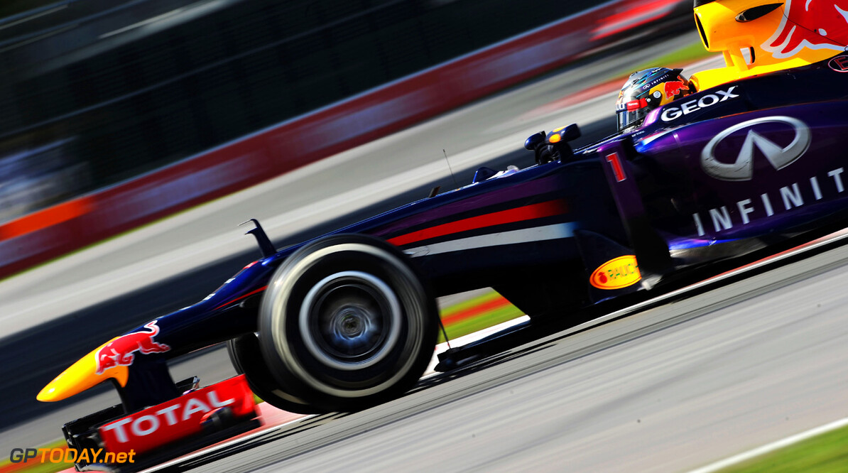 163377382KR00046_Canadian_F MONTREAL, QC - JUNE 09:  Sebastian Vettel of Germany and Infiniti Red Bull Racing drives on his way to winning the Canadian Formula One Grand Prix at the Circuit Gilles Villeneuve on June 9, 2013 in Montreal, Canada.  (Photo by Shaun Botterill/Getty Images) *** Local Caption *** Sebastian Vettel Canadian F1 Grand Prix - Race Shaun Botterill Montreal Canada  Formula One Racing formula 1 Auto Racing Formula 1 Canadian Grand Prix Canadian Formula One Grand Prix Formula One Grand Prix