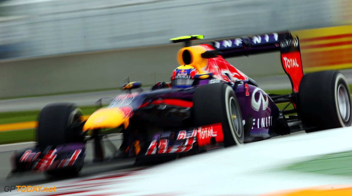 163377346KR00244_Canadian_F MONTREAL, QC - JUNE 07:  Mark Webber of Australia and Infiniti Red Bull Racing drives during practice for the Canadian Formula One Grand Prix at the Circuit Gilles Villeneuve on June 7, 2013 in Montreal, Canada.  (Photo by Mark Thompson/Getty Images) *** Local Caption *** Mark Webber Canadian F1 Grand Prix - Practice Mark Thompson Montreal Canada  Formula One Racing formula 1 Auto Racing Formula 1 Canadian Grand Prix Canadian Formula One Grand Prix Formula One Grand Prix