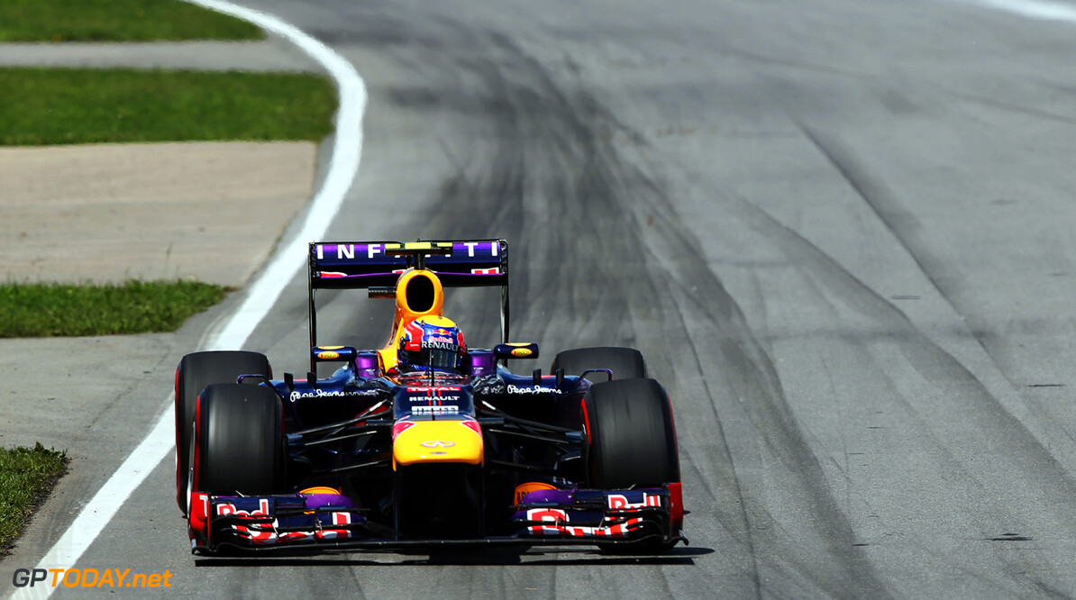 163377382KR00185_Canadian_F MONTREAL, QC - JUNE 09:  Mark Webber of Australia and Infiniti Red Bull Racing drives during the Canadian Formula One Grand Prix at the Circuit Gilles Villeneuve on June 9, 2013 in Montreal, Canada.  (Photo by Mark Thompson/Getty Images) *** Local Caption *** Mark Webber Canadian F1 Grand Prix - Race Mark Thompson Montreal Canada  Formula One Racing formula 1 Auto Racing Formula 1 Canadian Grand Prix Canadian Formula One Grand Prix Formula One Grand Prix