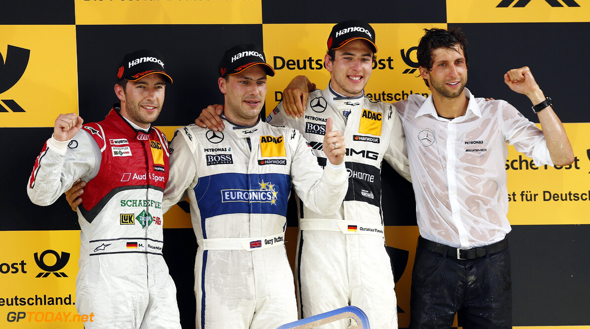 19 Mike Rockenfeller (D), Audi Sport Team Phoenix, Audi RS 5 DTM, 3 Gary Paffett (GB), HWA, DTM Mercedes AMG C-Coupe, 9 Christian Vietoris (D), HWA, DTM Mercedes AMG C-Coupe