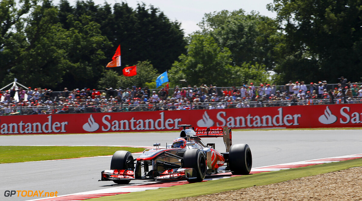 Jenson Button in front of home crowd