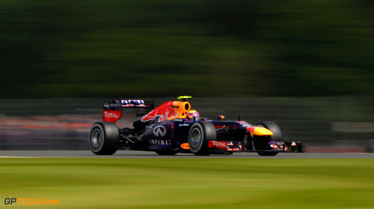 163377779KR00039_F1_Grand_P NORTHAMPTON, ENGLAND - JUNE 29:  Mark Webber of Australia and Infiniti Red Bull Racing drives during the final practice session prior to qualifying for the British Formula One Grand Prix at Silverstone Circuit on June 29, 2013 in Northampton, England.  (Photo by Lars Baron/Getty Images) *** Local Caption *** Mark Webber F1 Grand Prix of Great Britain - Qualifying Lars Baron Northampton United Kingdom  Formula One Racing formula 1 Auto Racing Formula 1 Grand Prix of Great B British Formula One Grand Prix Formula One Grand Prix