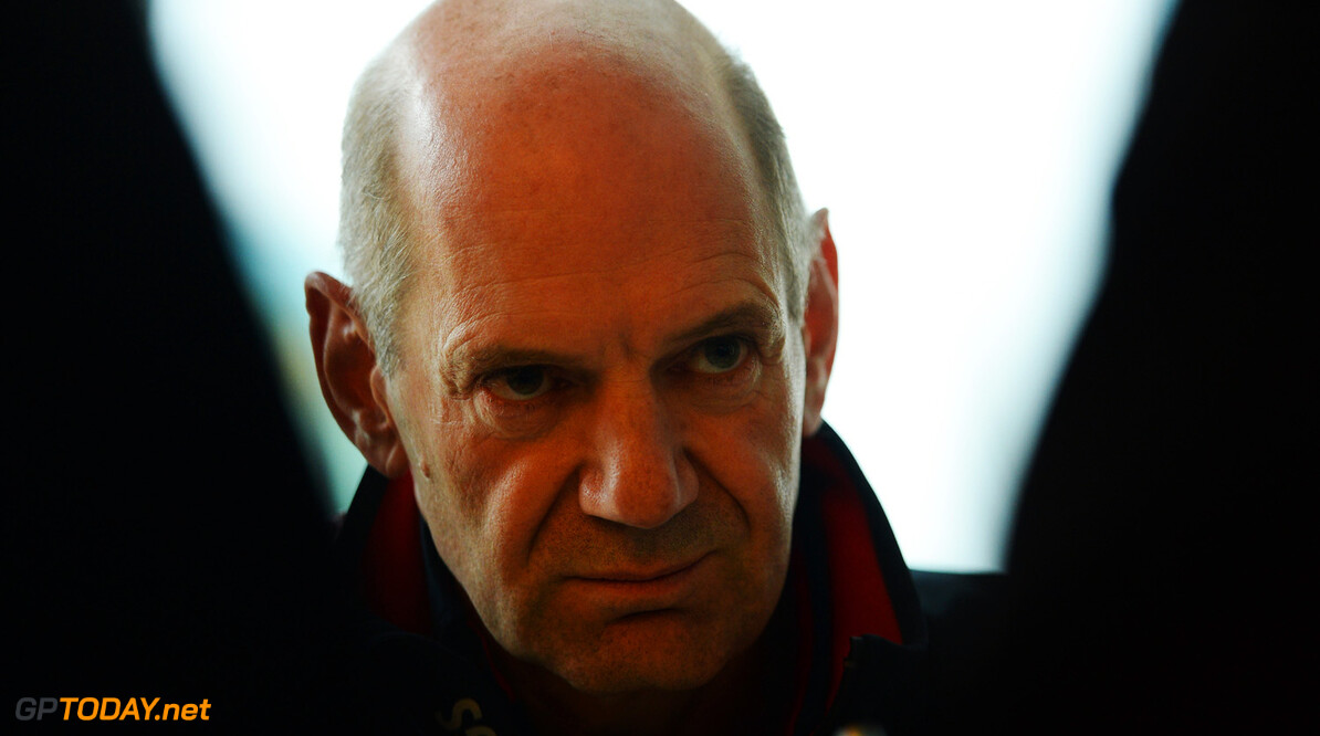 163377764KR00003_F1_Grand_P NORTHAMPTON, ENGLAND - JUNE 28:  Infiniti Red Bull Racing Chief Technical Officer Adrian Newey is interviewed by the media following practice for the British Formula One Grand Prix at Silverstone Circuit on June 28, 2013 in Northampton, England.  (Photo by Lars Baron/Getty Images) *** Local Caption *** Adrian Newey F1 Grand Prix of Great Britain - Practice Lars Baron Northampton United Kingdom  Formula One Racing formula 1 Auto Racing Formula 1 Grand Prix of Great B British Formula One Grand Prix Formula One Grand Prix