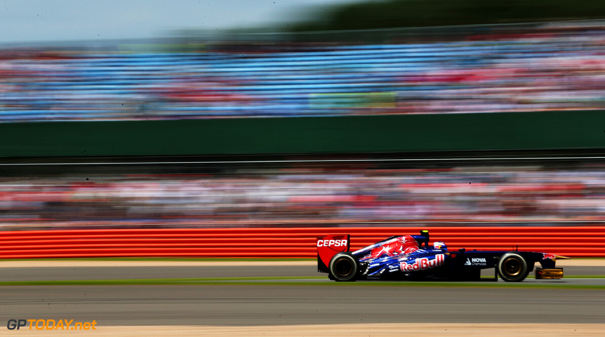 163377786KR00283_F1_Grand_P NORTHAMPTON, ENGLAND - JUNE 30:  Daniel Ricciardo of Australia and Scuderia Toro Rosso drives during the British Formula One Grand Prix at Silverstone Circuit on June 30, 2013 in Northampton, England.  (Photo by Mark Thompson/Getty Images) *** Local Caption *** Daniel Ricciardo F1 Grand Prix of Great Britain - Race Mark Thompson Northampton United Kingdom  Formula One Racing formula 1 Auto Racing Formula 1 Grand Prix of Great B British Formula One Grand Prix Formula One Grand Prix