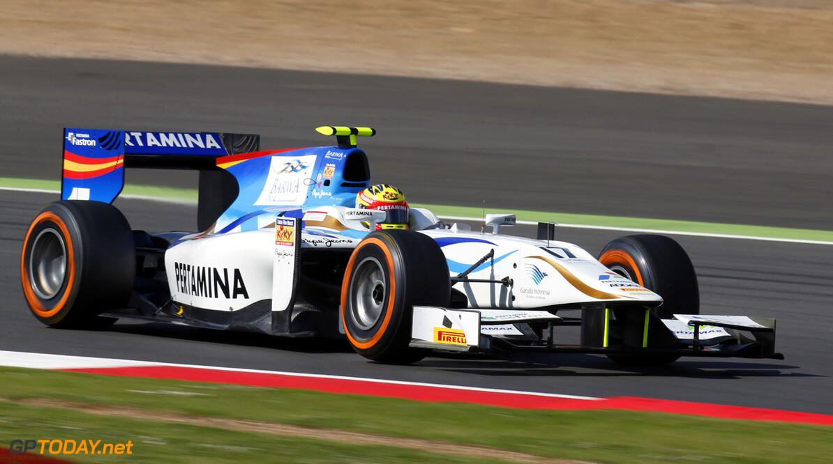 2013 GP2 Series. Round 5. Silverstone, Northamptonshire, England. 30th June. Sunday Race. Rio Haryanto (INA, Barwa Addax Team). Action.  World Copyright: Alastair Staley/GP2 Series Media Service. Ref: _R6T2235