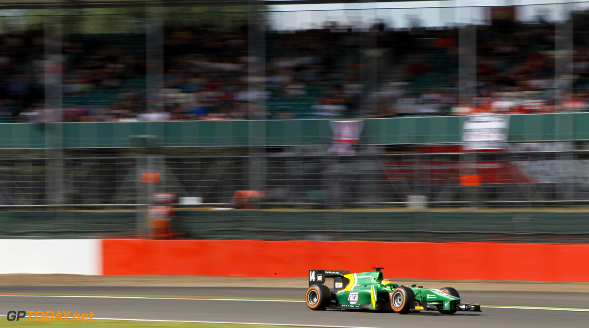2013 GP2 Series. Round 5. Silverstone, Northamptonshire, England. 30th June. Sunday Race. Sergio Canamasas (ESP, Caterham Racing). Action.  World Copyright: Alastair Staley/GP2 Series Media Service. Ref: _A8C5522