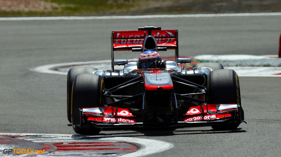 Jenson Button on track