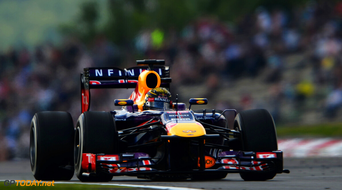 166985803KR00037_F1_Grand_P NUERBURG, GERMANY - JULY 06:  Sebastian Vettel of Germany and Infiniti Red Bull Racing drives during the final practice session prior to qualifying for the German Grand Prix at the Nuerburgring on July 6, 2013 in Nuerburg, Germany.  (Photo by Lars Baron/Getty Images) *** Local Caption *** Sebastian Vettel F1 Grand Prix of Germany - Qualifying Lars Baron Nuerburg Germany  Nurburg Nurburgring