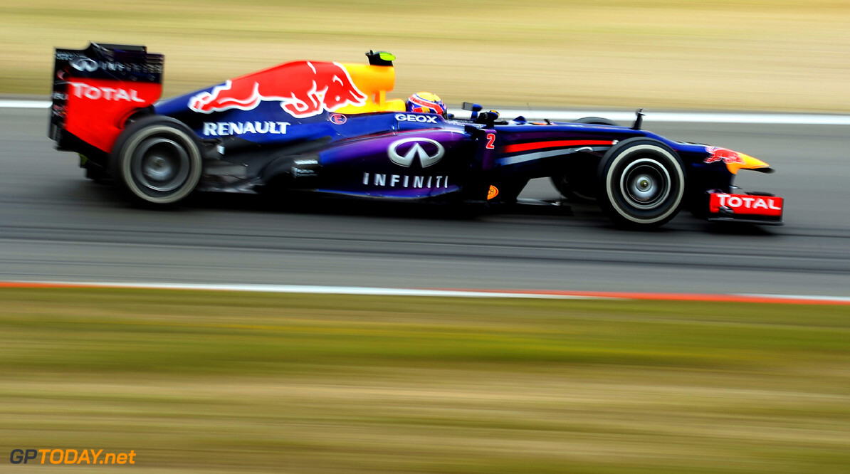 166985782KR00243_F1_Grand_P NUERBURG, GERMANY - JULY 05:  Mark Webber of Australia and Infiniti Red Bull Racing drives during practice for the German Grand Prix at the Nuerburgring on July 5, 2013 in Nuerburg, Germany.  (Photo by Lars Baron/Getty Images) *** Local Caption *** Mark Webber F1 Grand Prix of Germany - Practice Lars Baron Nuerburg Germany  Nurburg Nurburgring