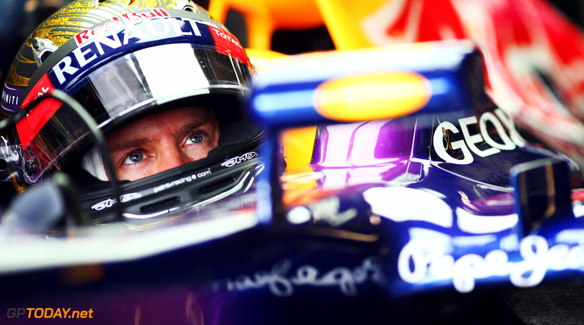 166985782KR00025_F1_Grand_P NUERBURG, GERMANY - JULY 05:  Sebastian Vettel of Germany and Infiniti Red Bull Racing prepares to drive during practice for the German Grand Prix at the Nuerburgring on July 5, 2013 in Nuerburg, Germany.  (Photo by Paul Gilham/Getty Images) *** Local Caption *** Sebastian Vettel F1 Grand Prix of Germany - Practice Paul Gilham Nuerburg Germany  Nurburg Nurburgring