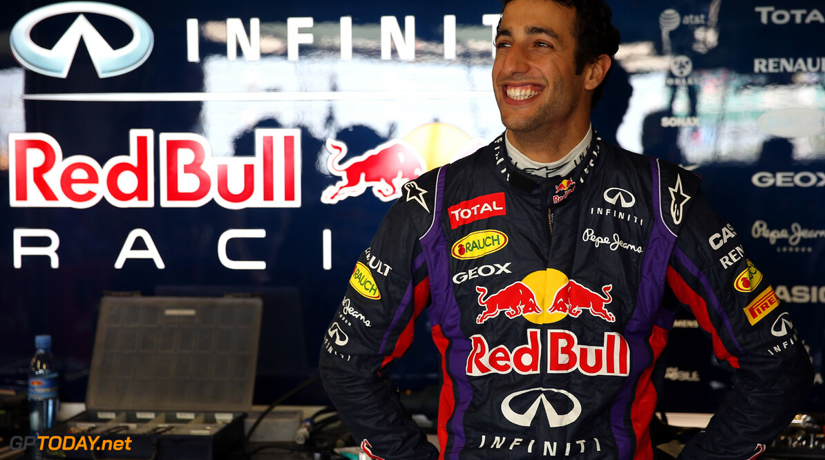 174042008MT00052_F1_YOUNG_D NORTHAMPTON, ENGLAND - JULY 18:   Daniel Ricciardo of Australia prepares to drive for the Infiniti Red Bull Racing team during the young drivers test at Silverstone Circuit on July 18, 2013 in Northampton, England.  (Photo by Mark Thompson/Getty Images) F1 Young Driver Tests - Silverstone: Day Two Mark Thompson Northampton United Kingdom  Formula One Racing
