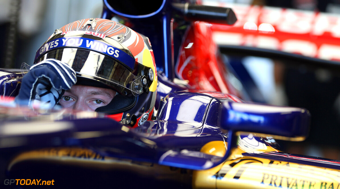 174042266MT00056_F1_Young_D NORTHAMPTON, ENGLAND - JULY 19:   Daniil Kvyat of Russia prepares to drive the Toro Rosso F1 car during the young drivers test at Silverstone Circuit on July 19, 2013 in Northampton, England.  (Photo by Mark Thompson/Getty Images) F1 Young Driver Tests - Silverstone: Day Three Mark Thompson Northampton United Kingdom  Formula One Racing