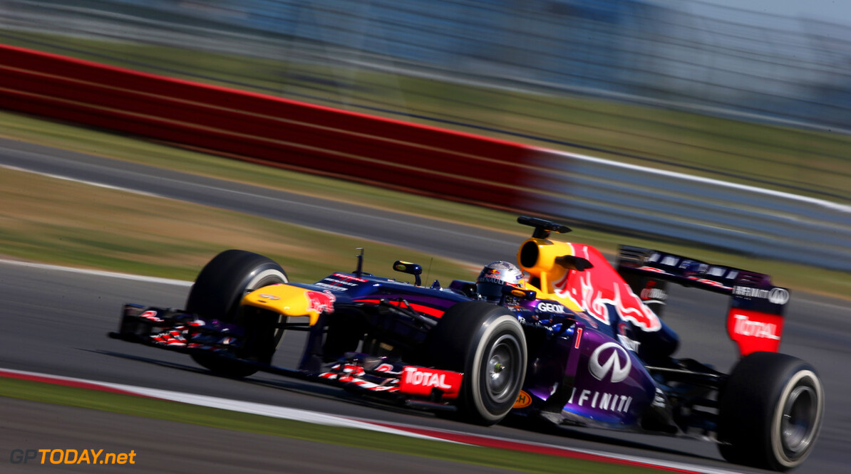 174042266MT00045_F1_Young_D NORTHAMPTON, ENGLAND - JULY 19:  NORTHAMPTON, ENGLAND,JULY 19:  Sebastian Vettel of Infiniti Red Bull Racing in action during the young drivers test at Silverstone Circuit on July 19, 2013 in Northampton, England.  (Photo by Mark Thompson/Getty Images) F1 Young Driver Tests - Silverstone: Day Three Mark Thompson Northampton United Kingdom  Formula One Racing