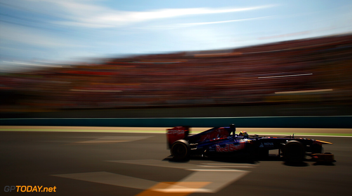166986040VR051_F1_Grand_Pri BUDAPEST, HUNGARY - JULY 28: Jean-Eric Vergne of France and Scuderia Toro Rosso drives his STR8 during the Hungarian Formula One Grand Prix at Hungaroring on July 28, 2013 in Budapest, Hungary. *** Local Caption *** Jean-Eric Vergne F1 Grand Prix of Hungary Vladimir Rys Budapest Hungary