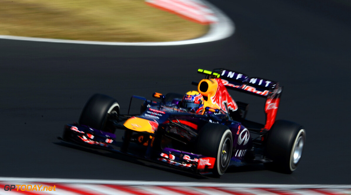 166985989KR00047_F1_Grand_P BUDAPEST, HUNGARY - JULY 27:  Mark Webber of Australia and Infiniti Red Bull Racing drives during the final practice session prior to qualifying for the Hungarian Formula One Grand Prix at Hungaroring on July 27, 2013 in Budapest, Hungary.  (Photo by Lars Baron/Getty Images) *** Local Caption *** Mark Webber F1 Grand Prix of Hungary - Qualifying Lars Baron Budapest Hungary