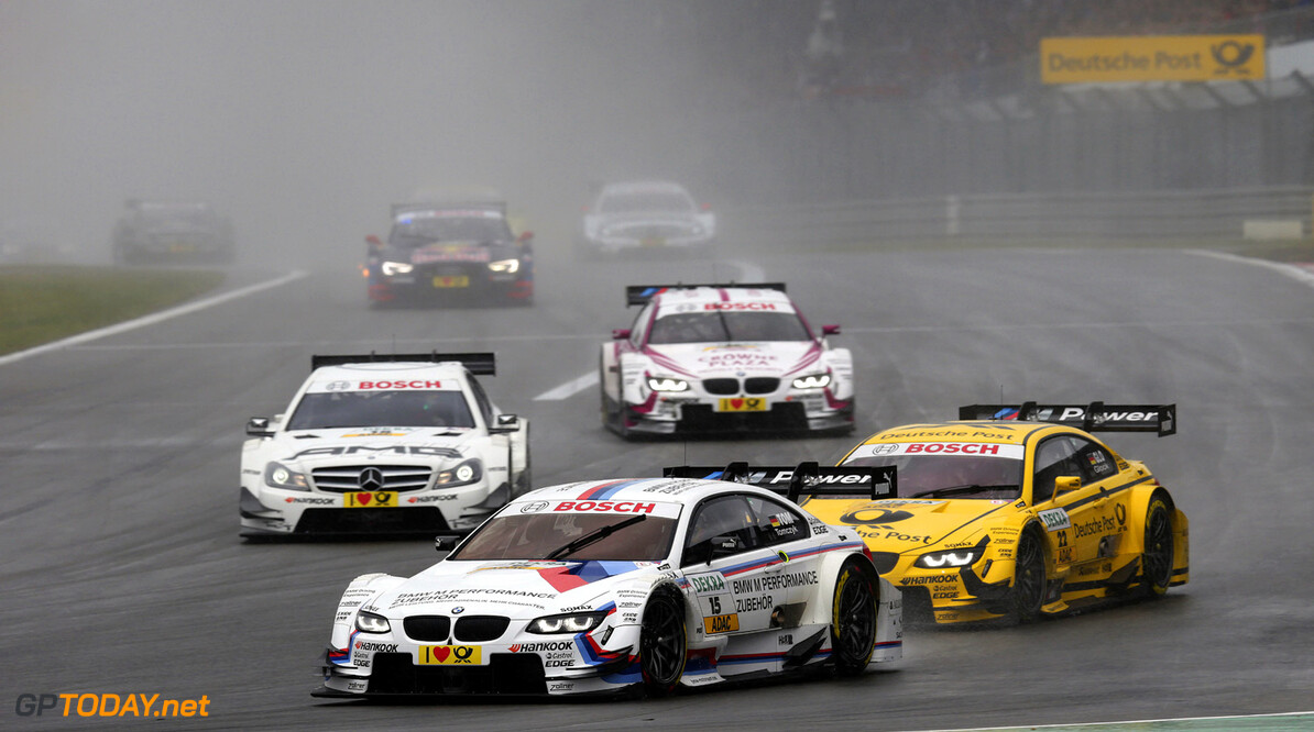 Nuerburgring (DE) 18th August 2012. BMW Motorsport, Martin Tomczyk (DE) BMW M Performance Parts M3 DTM and Timo Glock (DE) DEUTSCHE POST BMW M3 DTM. This image is copyright free for editorial use (C) BMW AG (08/2013).