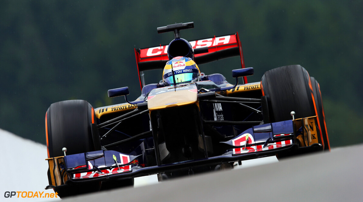 166987350KR00063_F1_Grand_P SPA, BELGIUM - AUGUST 23:  Jean-Eric Vergne of France and Scuderia Toro Rosso drives during practice for the Belgian Grand Prix at Circuit de Spa-Francorchamps on August 23, 2013 in Spa, Belgium.  (Photo by Mark Thompson/Getty Images) *** Local Caption *** Jean-Eric Vergne F1 Grand Prix of Belgium - Practice Mark Thompson Spa Belgium