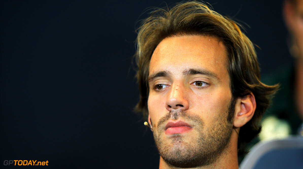 166987239KR00039_F1_Grand_P SPA, BELGIUM - AUGUST 22:  Jean-Eric Vergne of France and Scuderia Toro Rosso is interviewed by the media at the drivers press conference during previews to the Belgian Grand Prix at Circuit de Spa-Francorchamps on August 22, 2013 in Spa, Belgium.  (Photo by Dean Mouhtaropoulos/Getty Images) *** Local Caption *** Jean-Eric Vergne F1 Grand Prix of Belgium - Previews Dean Mouhtaropoulos Spa Belgium