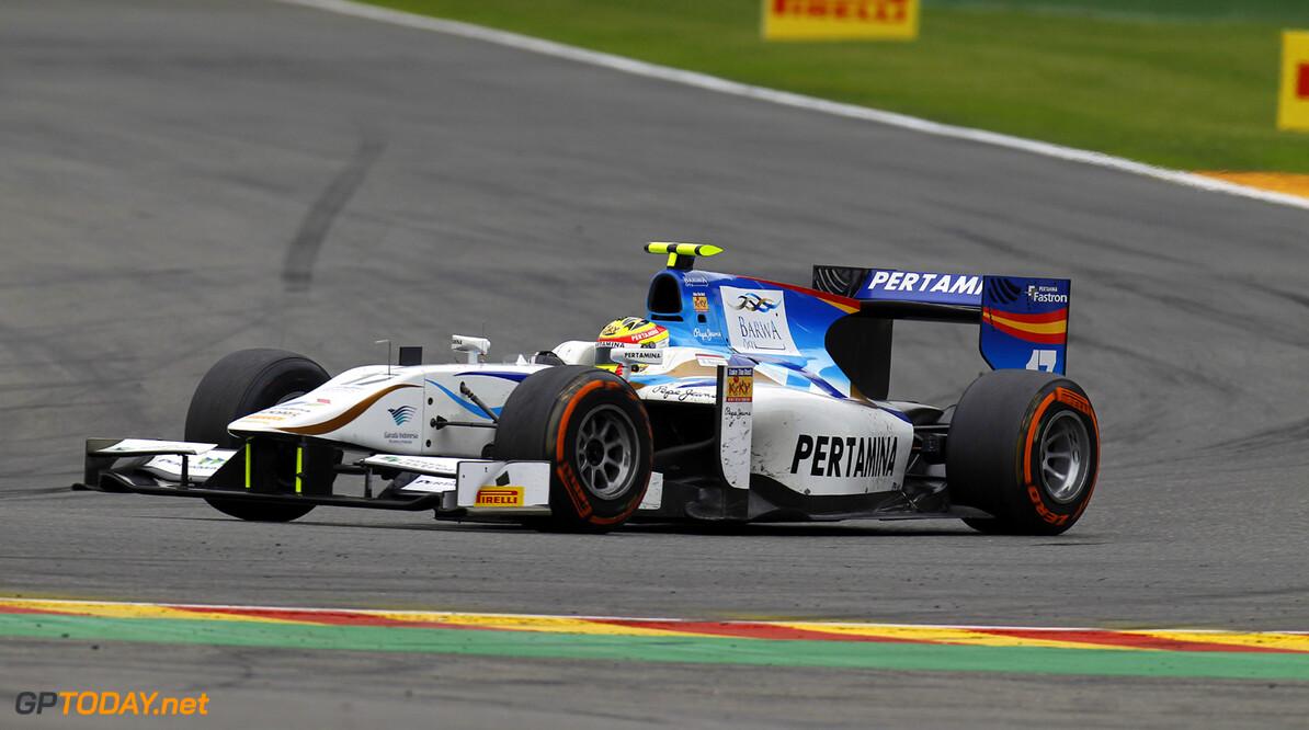 2013 GP2 Series. Round 8.  Spa - Francorchamps, Spa, Belgium. 24th August. Saturday race. Rio Haryanto (INA, Barwa Addax Team). Action.  World Copyright: Alastair Staley/GP2 Media Service. ref: Digital Image _A8C1759.jpg
