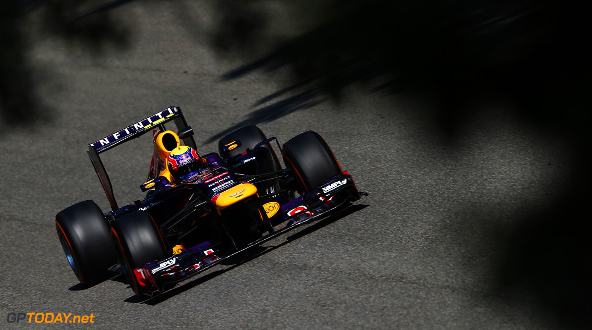 166987843GI00224_F1_Grand_P MONZA, ITALY - SEPTEMBER 06:  Mark Webber of Australia and Infiniti Red Bull Racing drives during practice for the Italian Formula One Grand Prix at Autodromo di Monza on September 6, 2013 in Monza, Italy.  (Photo by Mark Thompson/Getty Images) *** Local Caption *** Mark Webber F1 Grand Prix of Italy - Practice Mark Thompson Monza Italy