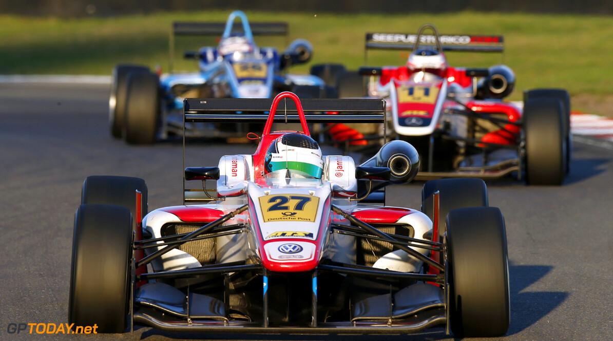 FIA Formula 3 European Championship, round 8, race 2, Zandvoort  27 Jann Mardenborough (GB, Carlin, Dallara F312 Volkswagen), 11 Felix Serralles (PR, Fortec Motorsports, Dallara F312 Mercedes), 26 Nicholas Latifi (CDN, Carlin, Dallara F312 Volkswagen), FIA Formula 3 European Championship, round 8, race 2, Zandvoort (NL) - 27. - 29. September 2013 FIA Formula 3 European Championship, round 8, race 2, Zandvoort (NL) Thomas Suer Zandvoort Netherlands