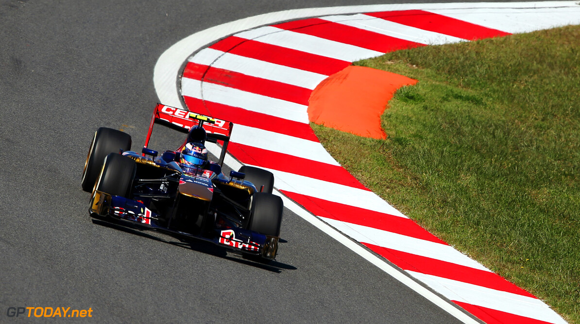 166988091KR00122_F1_Grand_P YEONGAM-GUN, SOUTH KOREA - OCTOBER 04:  Daniel Ricciardo of Australia and Scuderia Toro Rosso drives during practice for the Korean Formula One Grand Prix at Korea International Circuit on October 4, 2013 in Yeongam-gun, South Korea.  (Photo by Mark Thompson/Getty Images) *** Local Caption *** Daniel Ricciardo F1 Grand Prix of Korea - Practice Mark Thompson Yeongam-gun South Korea  F1 Mokpo