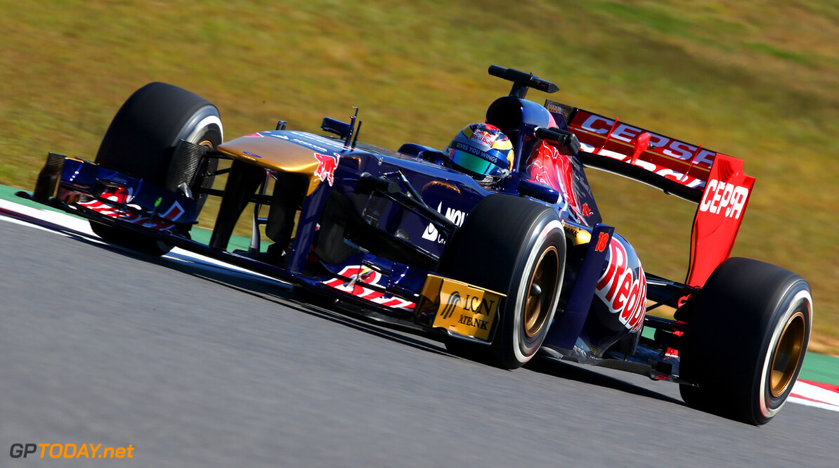 166988091KR00102_F1_Grand_P YEONGAM-GUN, SOUTH KOREA - OCTOBER 04:  Jean-Eric Vergne of France and Scuderia Toro Rosso drives during practice for the Korean Formula One Grand Prix at Korea International Circuit on October 4, 2013 in Yeongam-gun, South Korea.  (Photo by Clive Mason/Getty Images) *** Local Caption *** Jean-Eric Vergne F1 Grand Prix of Korea - Practice Clive Mason Yeongam-gun South Korea  F1 Mokpo