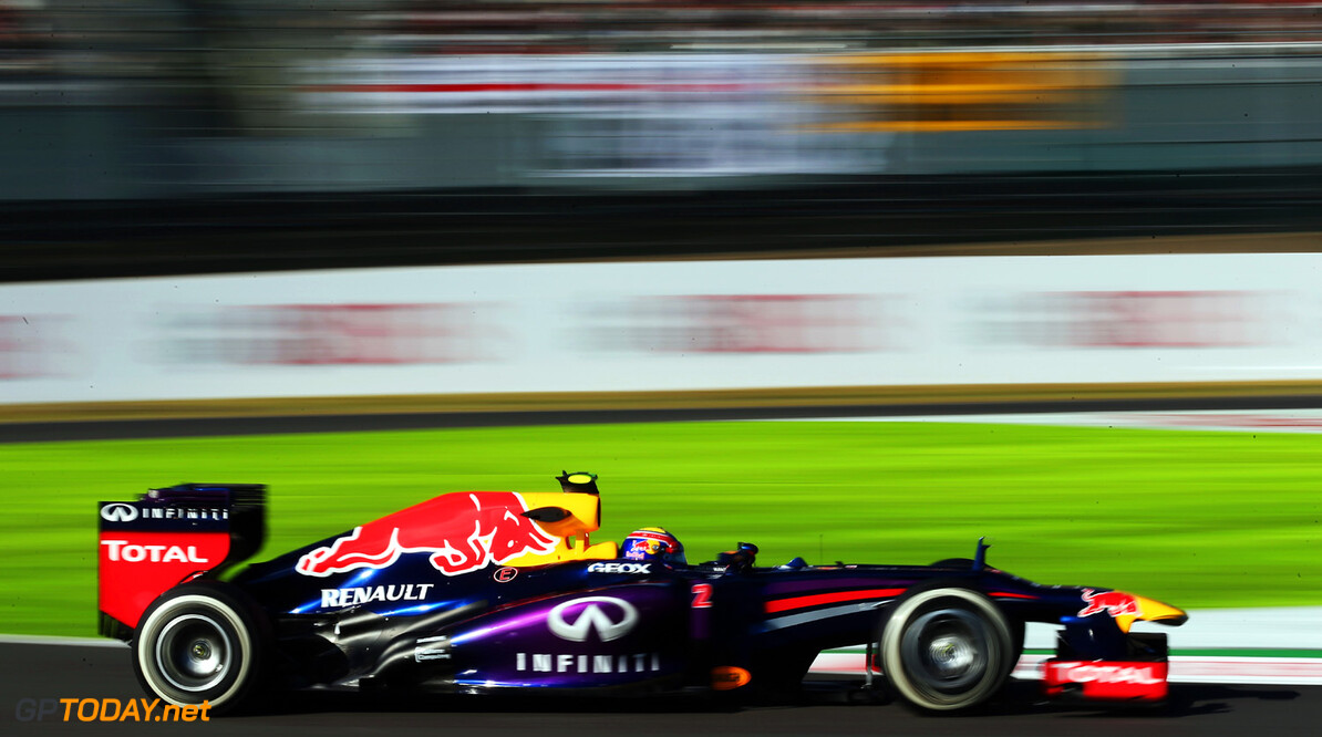 166988151KR00188_F1_Grand_P SUZUKA, JAPAN - OCTOBER 11:  Mark Webber of Australia and Infiniti Red Bull Racing drives during practice for the Japanese Formula One Grand Prix at Suzuka Circuit on October 11, 2013 in Suzuka, Japan.  (Photo by Mark Thompson/Getty Images,) *** Local Caption *** Mark Webber F1 Grand Prix of Japan - Practice Mark Thompson Suzuka Japan