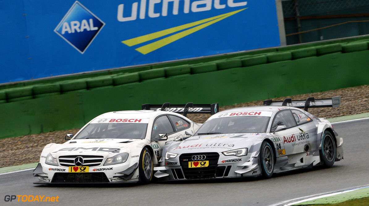 18 Pascal Wehrlein (D), RSC Mucke Motorsport, DTM Mercedes AMG C-Coupe, 24 Adrien Tambay (F), Audi Sport Team Abt, Audi RS 5 DTM