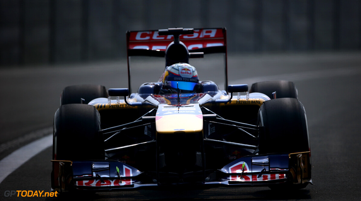 166989273XX00115_F1_Grand_P NOIDA, INDIA - OCTOBER 26:  Jean-Eric Vergne of France and Scuderia Toro Rosso drives during the final practice session prior to qualifying for the Indian Formula One Grand Prix at Buddh International Circuit on October 26, 2013 in Noida, India.  (Photo by Paul Gilham/Getty Images) *** Local Caption *** Jean-Eric Vergne F1 Grand Prix of India - Qualifying Paul Gilham Noida India  Delhi