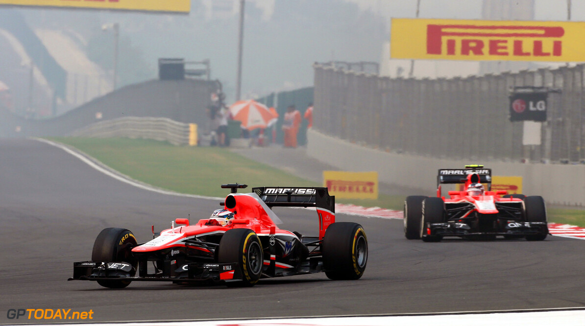Formula One World Championship Jules Bianchi (FRA) Marussia F1 Team MR02 leads team mate Max Chilton (GBR) Marussia F1 Team MR02.