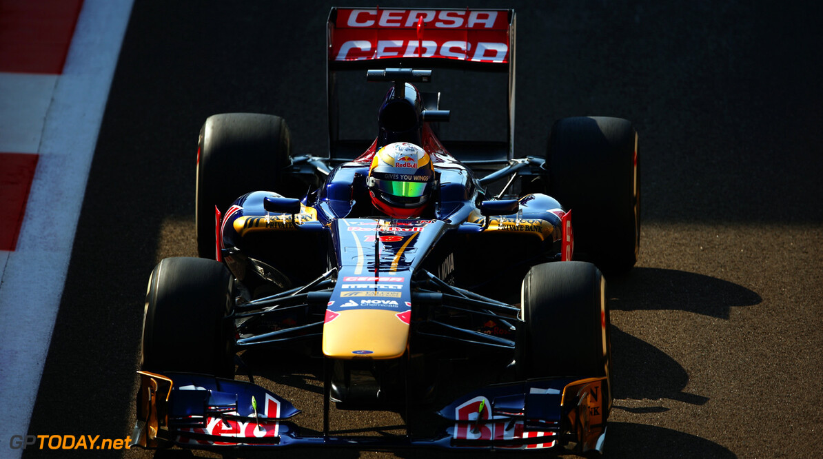 166989331XX00136_F1_Grand_P ABU DHABI, UNITED ARAB EMIRATES - NOVEMBER 01: Jean-Eric Vergne of France and Scuderia Toro Rosso drives during practice for the Abu Dhabi Formula One Grand Prix at the Yas Marina Circuit on November 1, 2013 in Abu Dhabi, United Arab Emirates.  (Photo by Paul Gilham/Getty Images) *** Local Caption *** Jean-Eric Vergne F1 Grand Prix of Abu Dhabi - Practice Paul Gilham Abu Dhabi United Arab Emirates