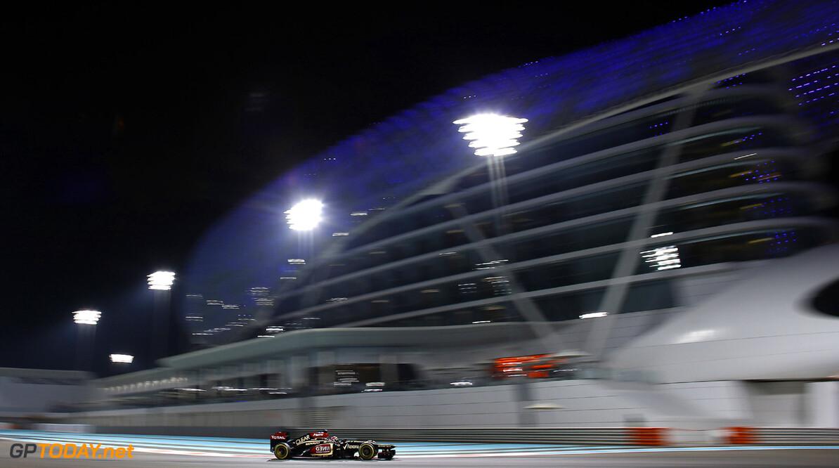2013 Abu Dhabi Grand Prix - Friday Yas Marina Circuit, Abu Dhabi, United Arab Emirates. Friday 1st November 2013. Kimi Raikkonen, Lotus E21 Renault. Photo: Steven Tee/Lotus F1 Team.  ref: Digital Image _L0U9261      formula 1 formula one f1 gp uae Action