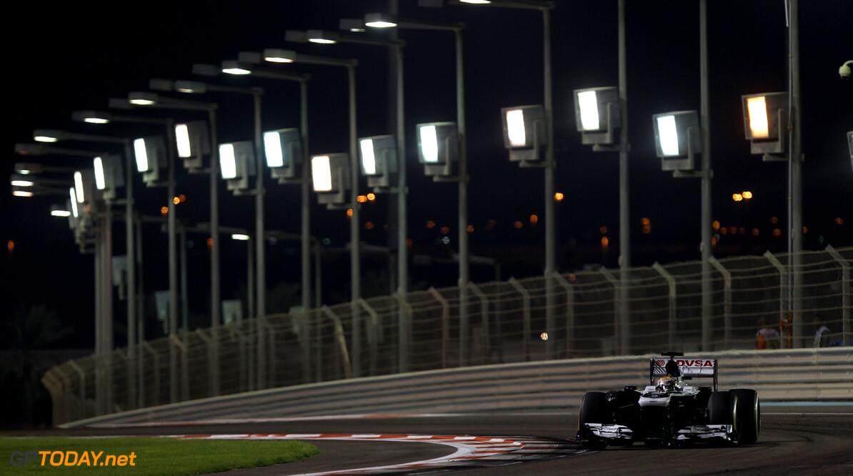 2013 Abu Dhabi Grand Prix - Friday Yas Marina Circuit, Abu Dhabi, United Arab Emirates. Friday 1st November 2013. Pastor Maldonado, Williams FW35 Renault. Photo: Williams F1. ref: Digital Image CW7C7054      formula 1 formula one f1 gp uae Action
