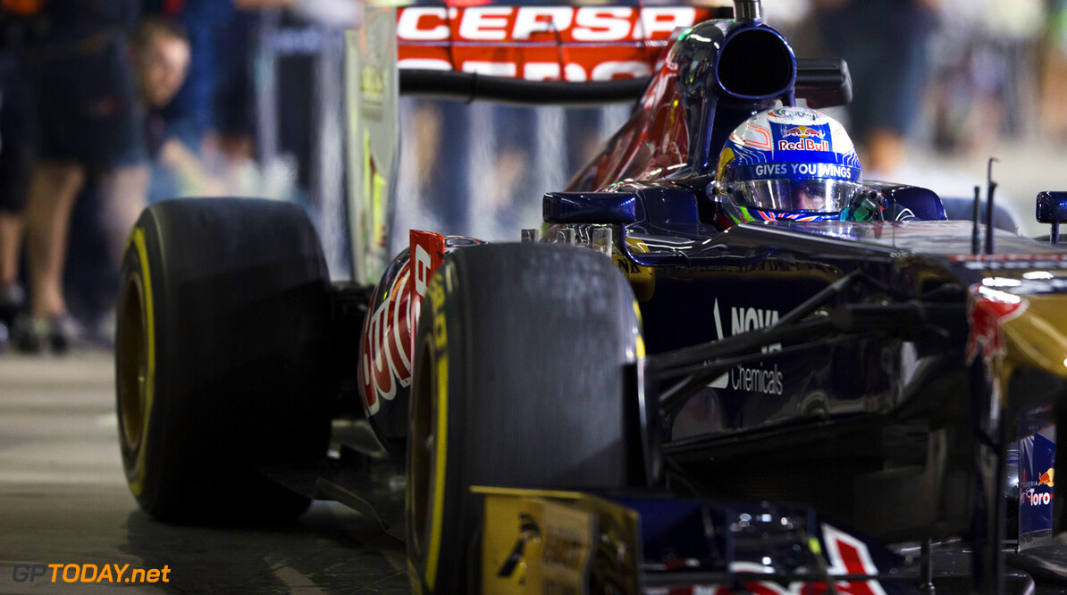 ABU DHABI, UNITED ARAB EMIRATES - NOVEMBER 02:  Daniel Ricciardo of Australia and Scuderia Toro Rosso is seen during qualifying for the Abu Dhabi Formula One Grand Prix at the Yas Marina Circuit on November 2, 2013 in Abu Dhabi, United Arab Emirates.  (Photo by Peter Fox/Getty Images) *** Local Caption *** Daniel Ricciardo F1 Grand Prix of Abu Dhabi - Qualifying Peter Fox Abu Dhabi United Arab Emirates