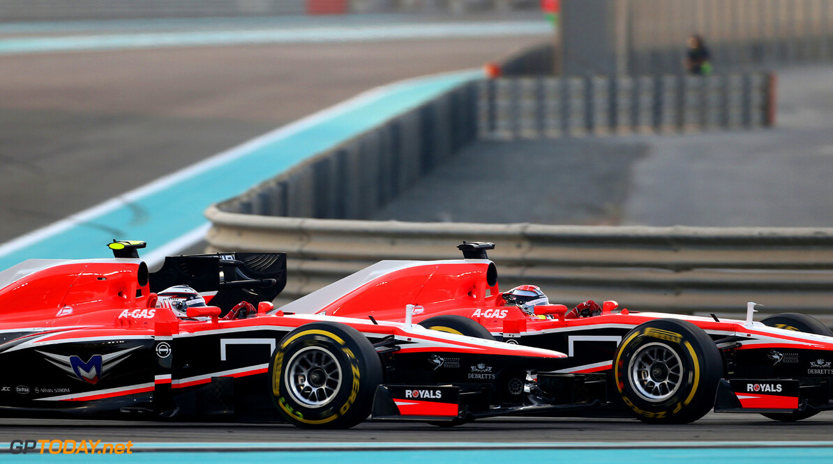 Formula One World Championship Jules Bianchi (FRA) Marussia F1 Team MR02 and team mate Max Chilton (GBR) Marussia F1 Team MR02.