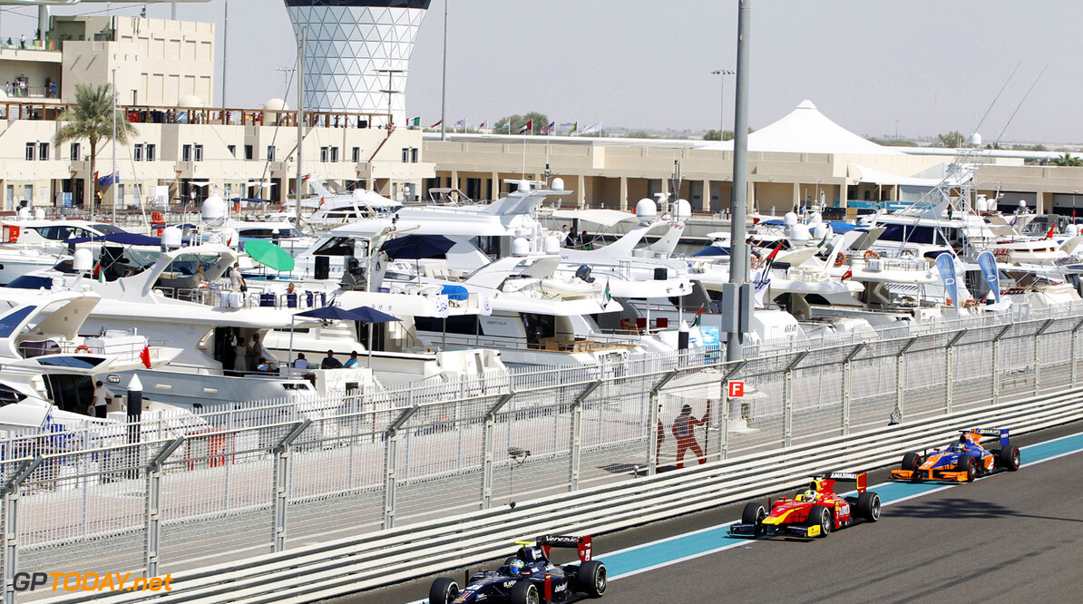 2013 GP2 Championship. Round 11. Yas Marina Circuit, Abu Dhabi, United Arab Emirates. 2nd November 2013. Saturday Race.  Rene Binder (AUT, Venezuela GP Lazarus). Action.  Photo: Sam Bloxham/GP2 Media Service.  ref: Digital Image _JED9714.jpg