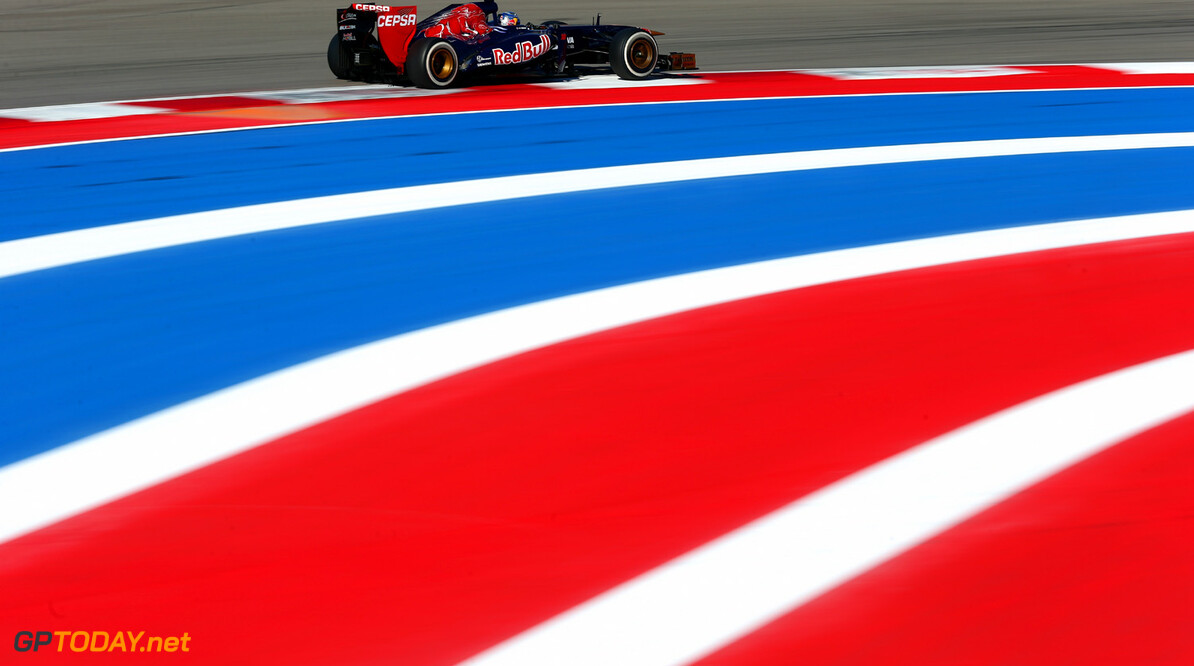 166989390KR00192_F1_Grand_P AUSTIN, TX - NOVEMBER 15:  Jean-Eric Vergne of France and Scuderia Toro Rosso drives during practice for the United States Formula One Grand Prix at Circuit of The Americas on November 15, 2013 in Austin, United States.  (Photo by Paul Gilham/Getty Images) *** Local Caption *** Jean-Eric Vergne F1 Grand Prix of USA - Practice Paul Gilham Austin United States  F1 Formula One