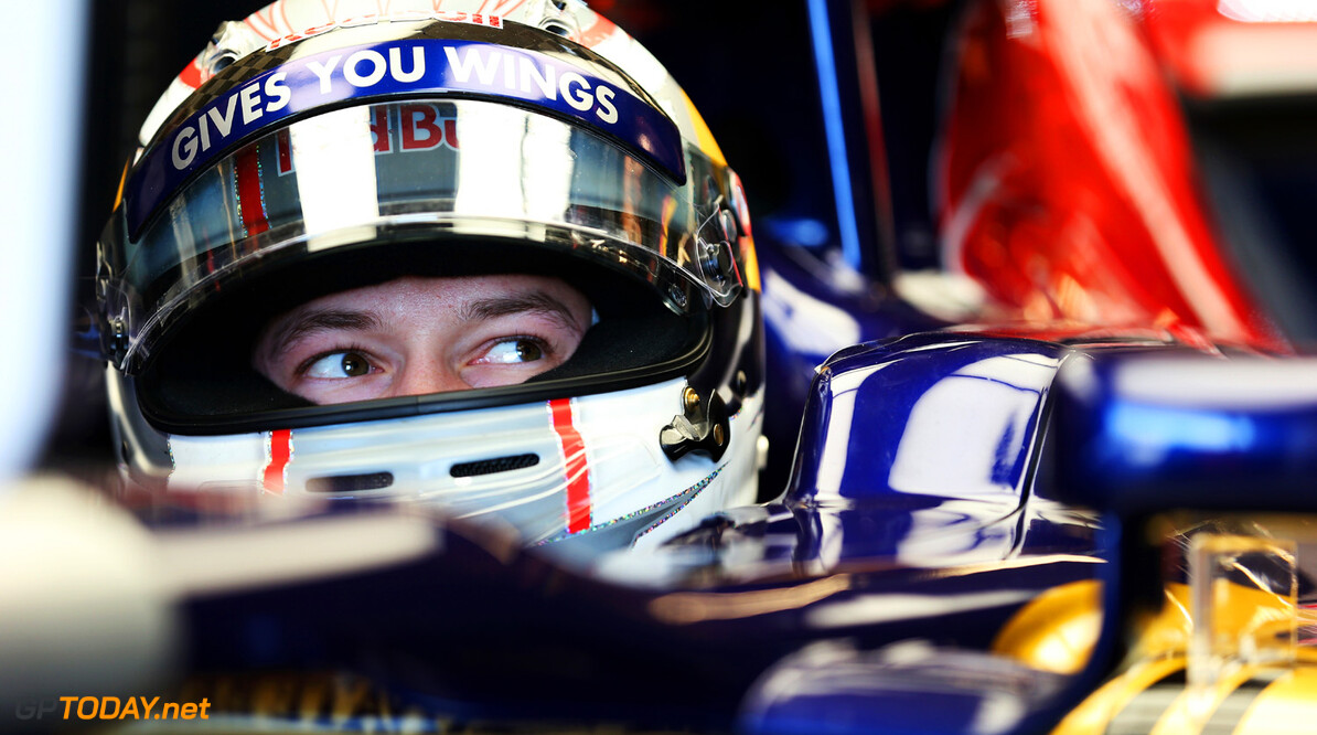166989390KR00105_F1_Grand_P AUSTIN, TX - NOVEMBER 15:  Daniil Kvyat of Russia and Scuderia Toro Rosso prepares to drive during practice for the United States Formula One Grand Prix at Circuit of The Americas on November 15, 2013 in Austin, United States.  (Photo by Mark Thompson/Getty Images) *** Local Caption *** Daniil Kvyat F1 Grand Prix of USA - Practice Mark Thompson Austin United States  F1 Formula One