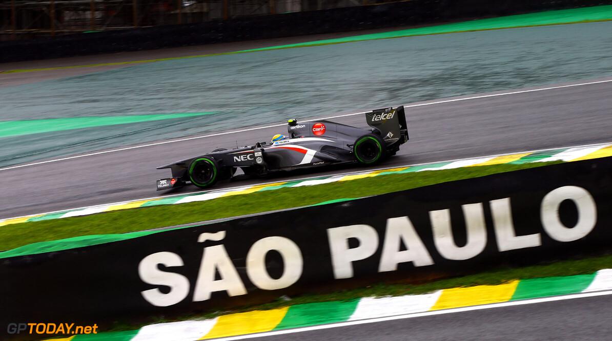 Brazilian GP Friday 22/11/13 Esteban Gutierrez (MEX), Sauber F1 Team. Autodromo Carlos Pace.  Brazilian GP Friday 22/11/13 Jean-Francois Galeron Interlagos Brazil  F1 Formula One 2013 action Gutierrez Sauber